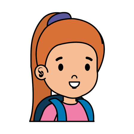 Illustration for little girl kid character vector illustration design - Royalty Free Image