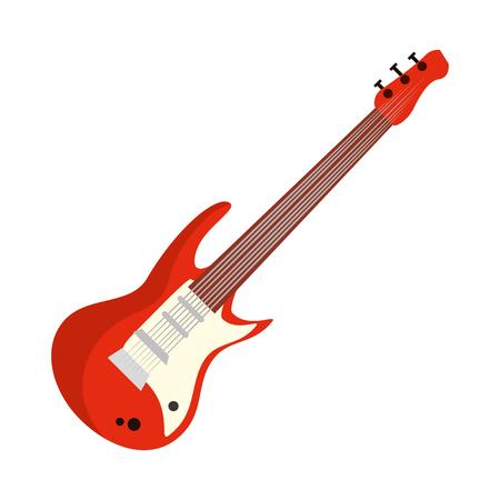 Illustration pour electric guitar musical instrument vector illustration design - image libre de droit