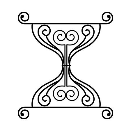 Ilustración de label victorian style icon vector illustration design - Imagen libre de derechos