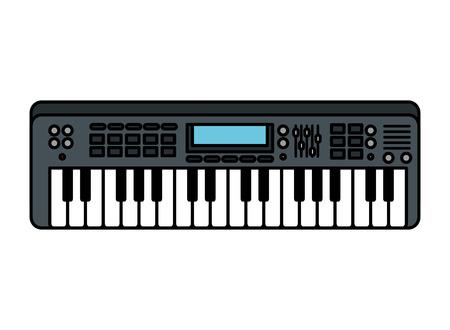 Illustration pour piano keyboard isolated icon vector illustration design - image libre de droit