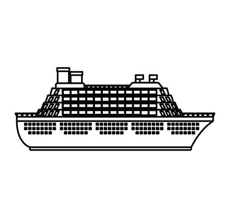 Ilustración de cruise boat isolated icon vector illustration design - Imagen libre de derechos