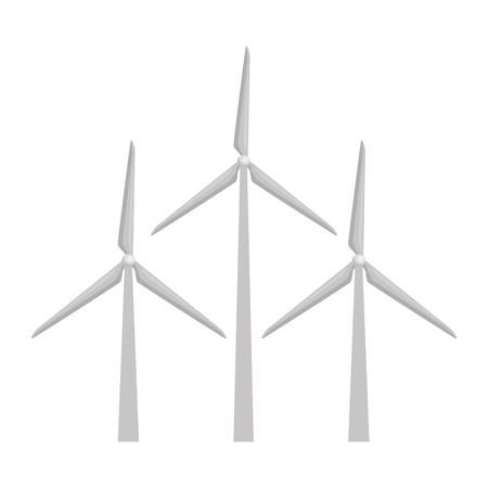 Ilustración de wind energy isolated icon vector illustration design - Imagen libre de derechos