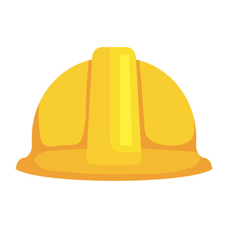 Ilustración de construction helmet protection icon vector illustration design - Imagen libre de derechos