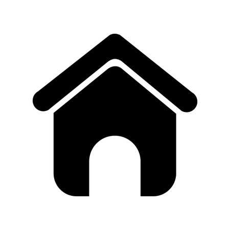 Illustration for house silhouette isolated icon vector illustration design - Royalty Free Image