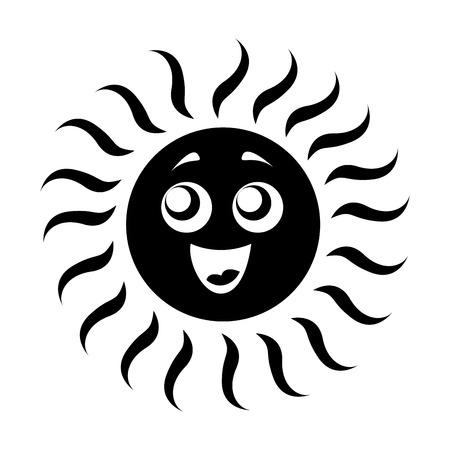 Illustration pour summer sun isolated icon vector illustration design - image libre de droit