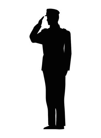 Foto per military man silhouette icon vector illustration design - Immagine Royalty Free