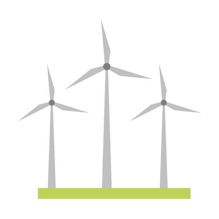 Illustration pour wind turbines energy renewable vector illustration design - image libre de droit