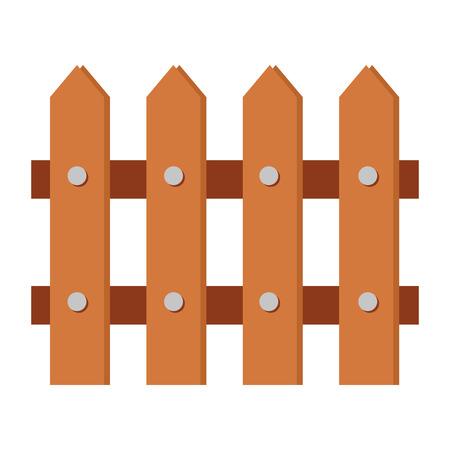 Ilustración de wooden fence isolated icon vector illustration design - Imagen libre de derechos