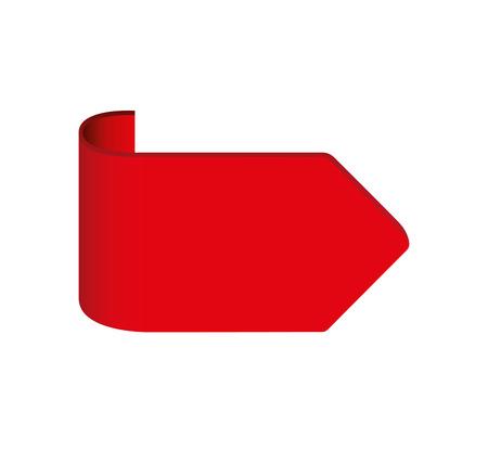 Illustration pour arrow flage isolated icon vector illustration design - image libre de droit