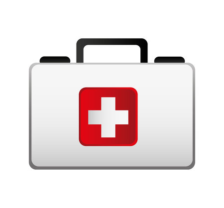 Illustration pour medical kit isolated icon vector illustration design - image libre de droit