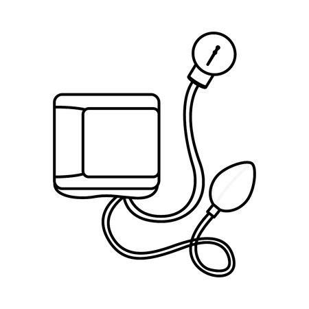 Illustration pour Blood pressure gauge isolated icon vector illustration design - image libre de droit