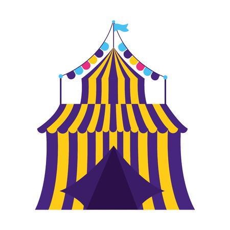 Illustration pour carnival tent circus garland vector illustration design - image libre de droit
