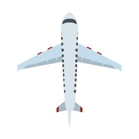 Ilustración de airplane flying isolated icon vector illustration design - Imagen libre de derechos
