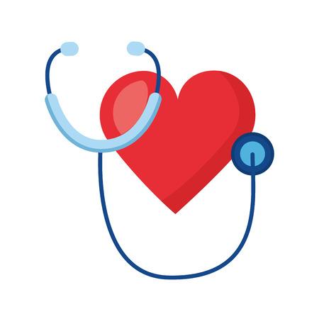 Ilustración de heart stethoscope world health day vector illustration - Imagen libre de derechos