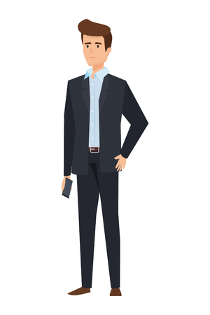 Ilustración de elegant businessman avatar character vector illustration design - Imagen libre de derechos