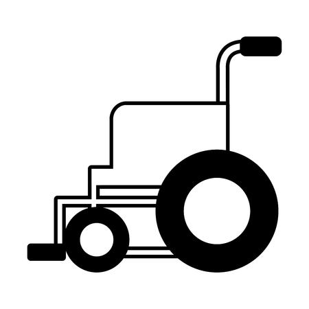 Illustration pour medical wheelchair equipment vector illustration design icon - image libre de droit