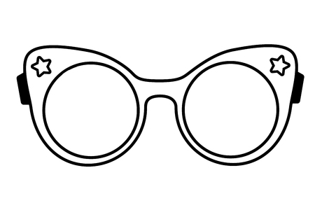 Illustration for female eyeglasses fashion on white background vector illustration - Royalty Free Image