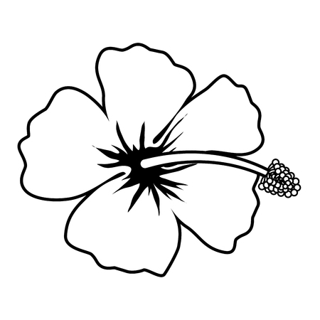Illustration for exotic tropical flower icon vector illustration design - Royalty Free Image