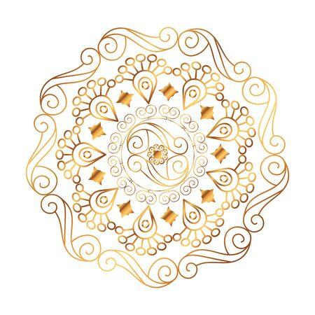 Ilustración de golden mandala victorian style vector illustartion design - Imagen libre de derechos