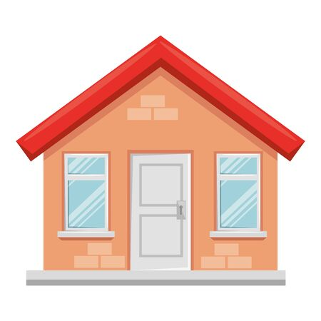 Illustration for house building facade isolated icon vector illustration design - Royalty Free Image
