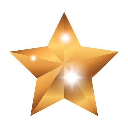 Illustration pour star prize isolated icon vector illustration design - image libre de droit