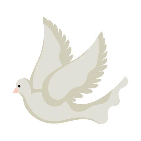 Ilustración de beautiful dove bird flying icon vector illustration design - Imagen libre de derechos