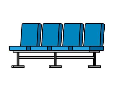 Illustration pour waiting room set chairs icons vector illustration design - image libre de droit