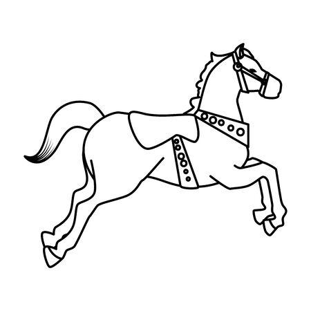 Ilustración de carousel horse carnival icon vector illustration design - Imagen libre de derechos