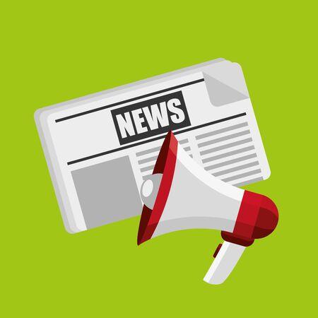 Illustration pour breaking news design, vector illustration - image libre de droit