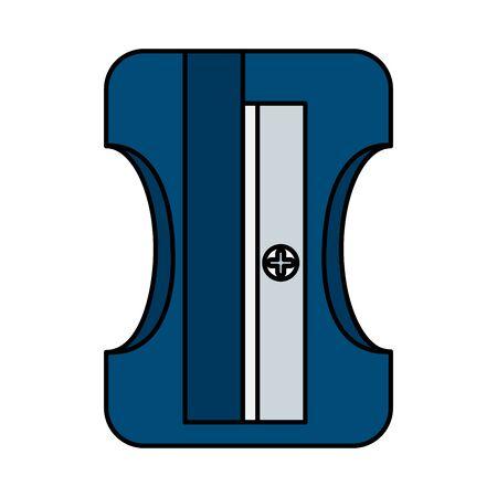 Illustration pour sharpener education supply isolated icon vector illustration design - image libre de droit