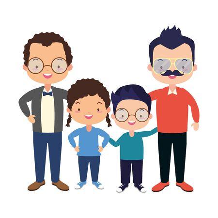 Illustration pour parents and kids celebration fathers day vector illustration design - image libre de droit
