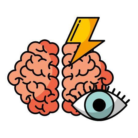 Illustration pour brain vision power creativity idea vector illustration - image libre de droit