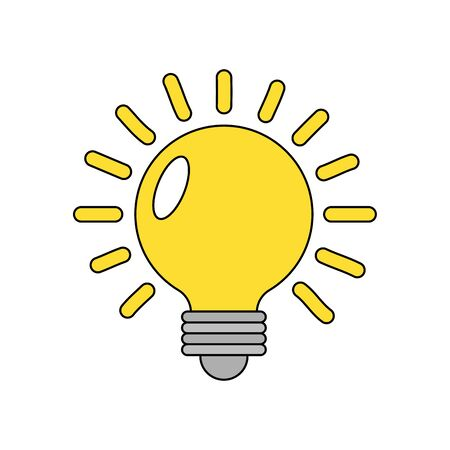 Illustration for Light bulb design, Energy power technology electricity illumination and innovation theme Vector illustration - Royalty Free Image