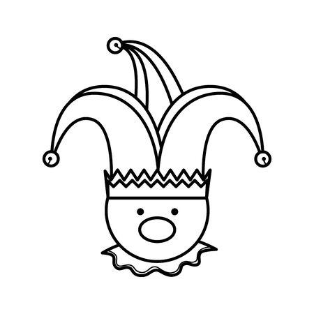 Ilustración de fools day joker character vector illustration design - Imagen libre de derechos