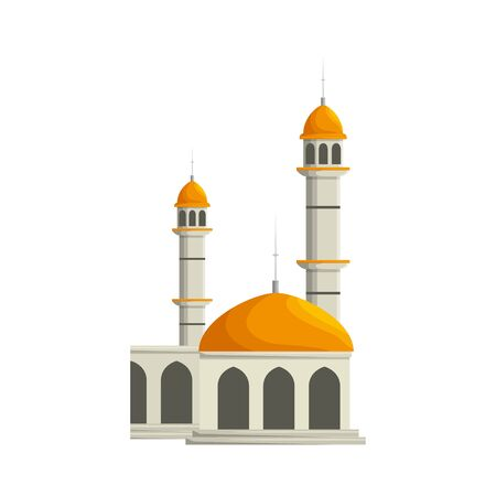 Illustration pour mosque building palace isolated icon vector illustration design - image libre de droit
