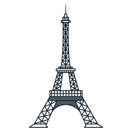 Foto de france eiffel tower landmark famous vector illustration - Imagen libre de derechos