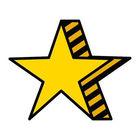 Illustration for star award element isolated icon vector illustration design - Royalty Free Image