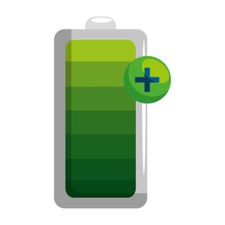 battery energy level icon vector illustration design