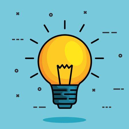 Illustration pour bulb idea to health mental intelligence vector illustration - image libre de droit
