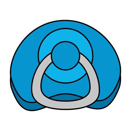 Illustration pour pacifier baby isolated icon vector illustration design - image libre de droit