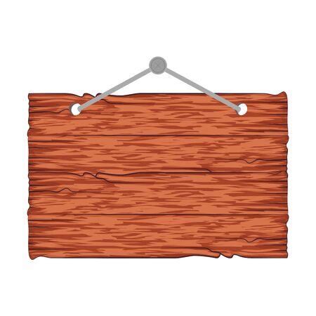 Illustration for wooden label hanging icon vector illustration design - Royalty Free Image