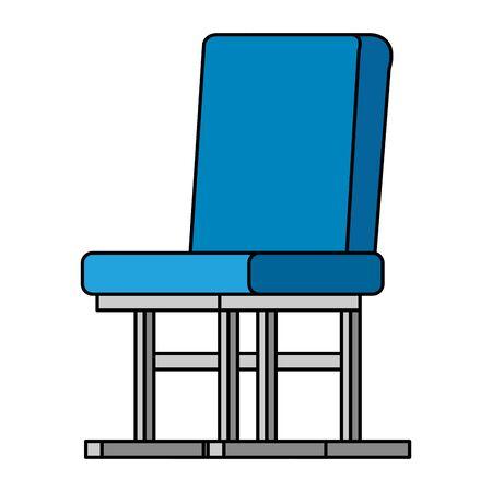 Illustration pour waiting room chair isolated icon vector illustration design - image libre de droit