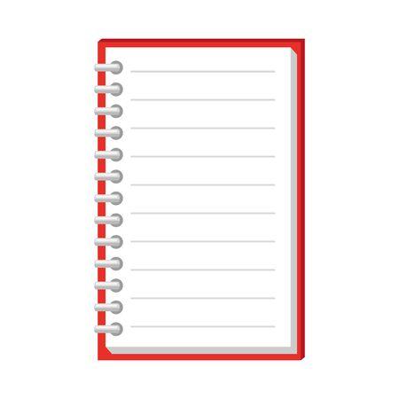Illustration pour note book school supply icon vector illustration design - image libre de droit
