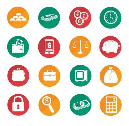 Illustration pour bundle of business set icons vector illustration design - image libre de droit