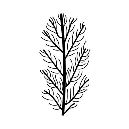 Illustration pour branch with leafs plant icon vector illustration design - image libre de droit