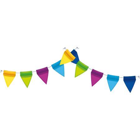 Photo pour Banner pennant design, Party happy birthday festival celebration holiday decoration enjoyment and entertainment theme Vector illustration - image libre de droit