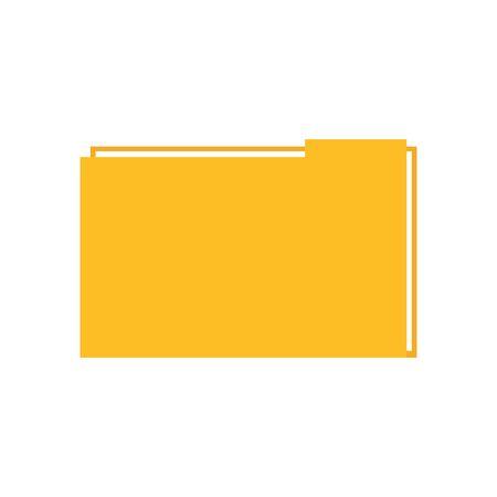 Illustration pour File icon design, Document data archive storage organize business office and information theme Vector illustration - image libre de droit