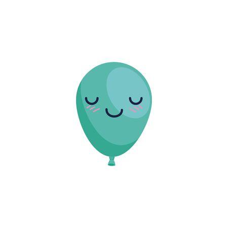 Illustration for Balloon cartoon design, Party happy birthday festival celebration holiday decoration enjoyment and entertainment theme Vector illustration - Royalty Free Image