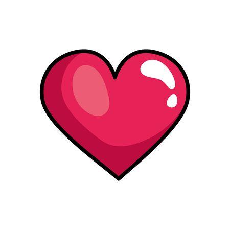 Illustration pour heart love pop art style icon vector illustration design - image libre de droit