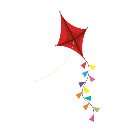 Illustration for kite toy game isolated icon vector illustration design - Royalty Free Image